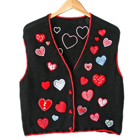 valentines day sweaters calico hearts valentines day sweater vest the