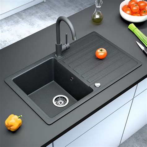 Ebay Kitchen Sink Bergstroem Granite Kitchen Built In Sink Reversible 765x460 Black Ebay