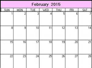 calendar template for february 2015 february 2015 calendar printable