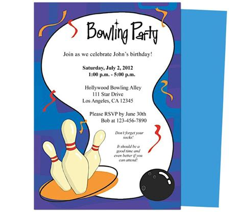 bowling invitation template it s a bowling birthday invitations template printable