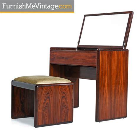 flip top vanity desk modern teak vanity