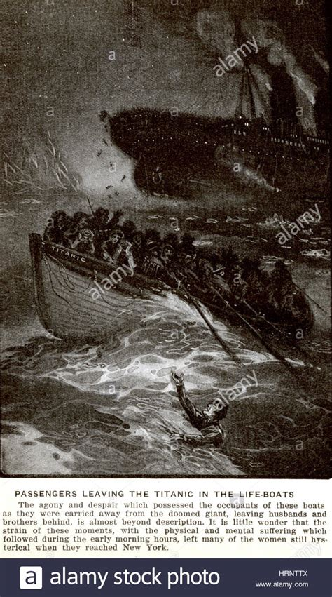 the sinking of the titanic 1912 sinking of the rms titanic 1912 stock photo 135090170