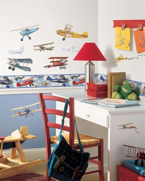 roommates wall stickers uk vintage planes border wall stickers roommates