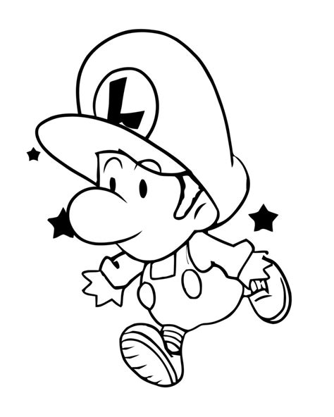 baby luigi coloring page free printable luigi coloring pages for kids