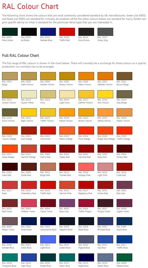 ral color chart ral color chart free