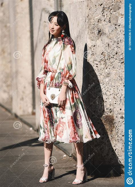 milano fashion week street style editorial photo image