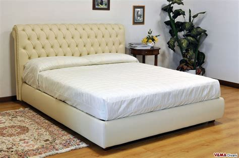 1 double bed chesterfield leather double bed create your own custom model