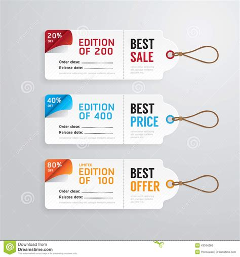 card sle template sale banners price tag paper card template collection
