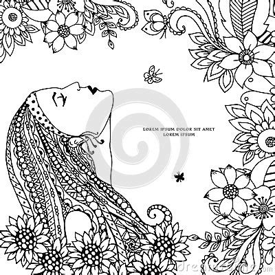 anti stress coloring book doodle and color your stress away vector illustration zen tangle with flowers doodle