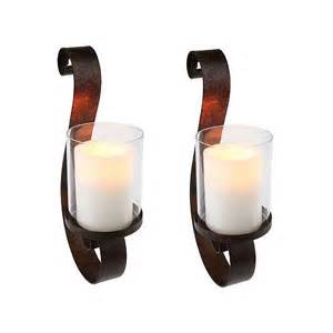 Flameless Candle Wall Sconce Set 2 Homereflections H193709 Set Of 2 Wall Sconces W Flameless Candles W Timer Ebay