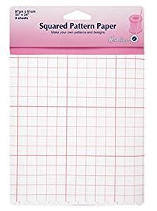 pattern tracing paper with grid hemline h751 1cm squared pattern tracing paper 61x86cm