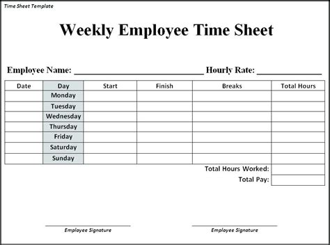 timesheet invoice template excel best overtime excel template images