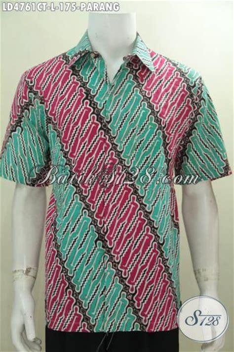 Baju Warna Hijau Kombinasi baju batik parang kombinasi warna hijau dan merah pakaian hem batik modern classic proses