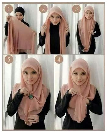 Jilbab Baru 2016 tutorial cara memakai modern pashmina fariasi baru 2016