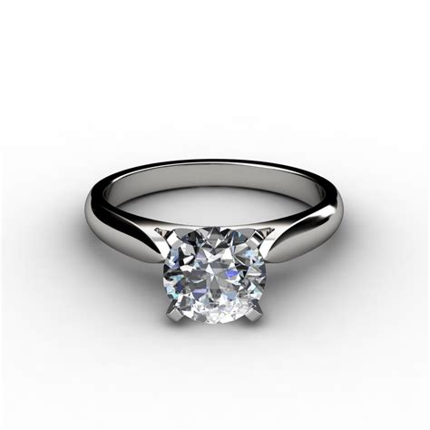 tapered cathedral engagement ring