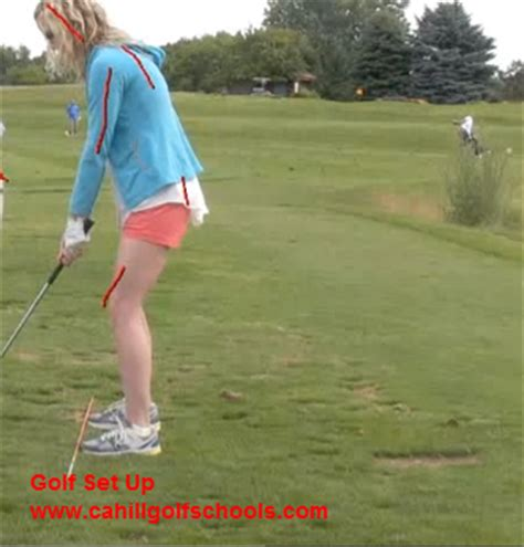 how to set up golf swing golf set up and swing cahill golf instruction