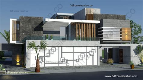 Contemporary House Designs And Floor Plans 3d front elevation com contemporary villa house design