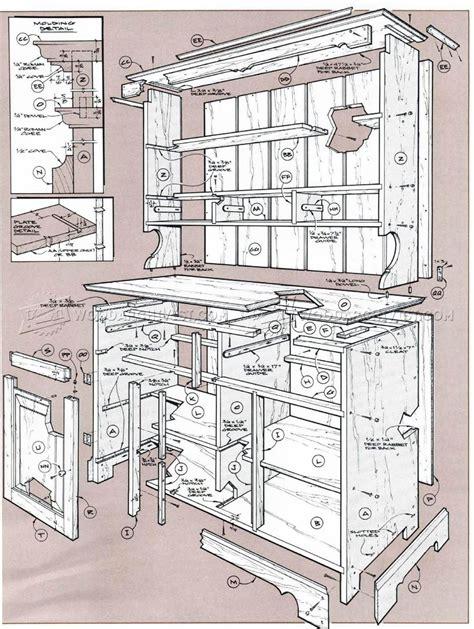 pine cupboard plans woodarchivist