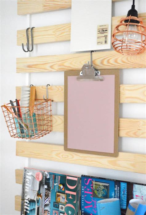 ikea bed slats hack ikea bed slats wall hanging organizers for every room