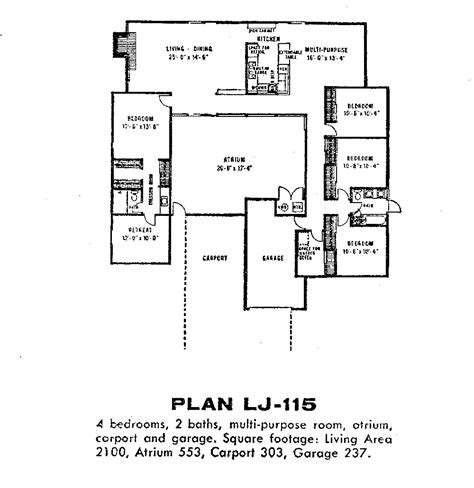 eichler atrium floor plan eichler floor plans fairhaven eichlersocaleichlersocal