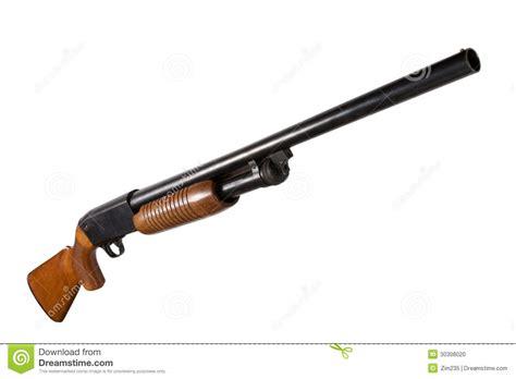 jachtgeweer vergunning het jachtgeweer van de pompactie stock foto afbeelding