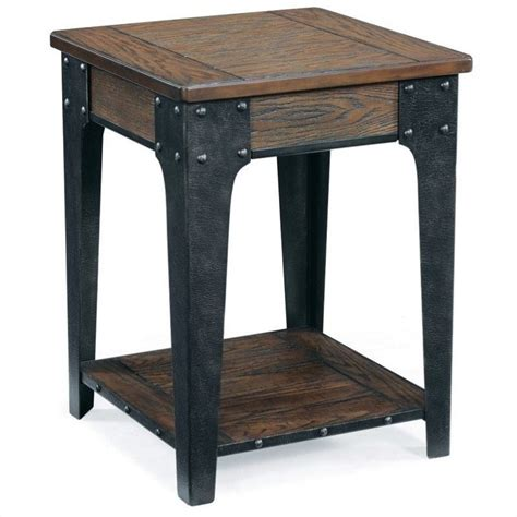 accent table l magnussen lakehurst wood square accent table in natural oak t1806 33