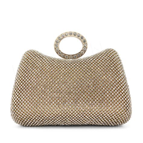 silver clutch bag ebay crystal diamante silver prom bag ring clutch purse wedding