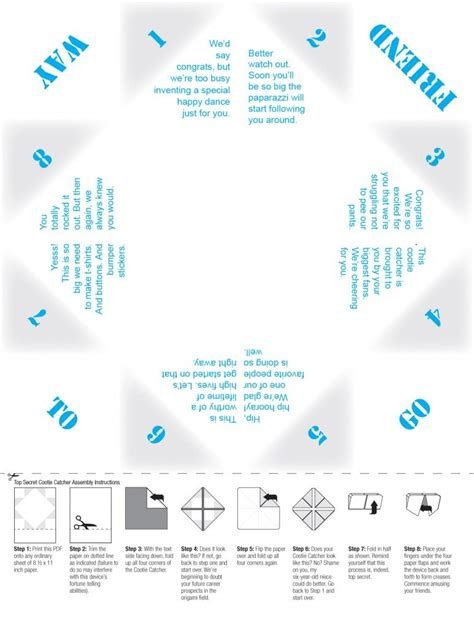 what to write in a paper chatterbox cootie catchers print out printable paper fortune tellers