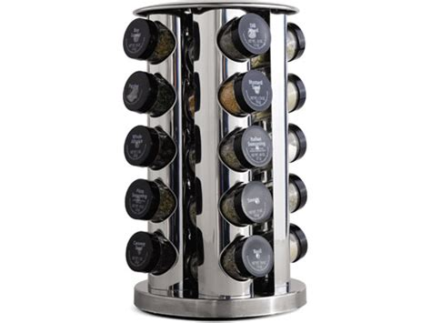 Large Revolving Spice Rack M Kamenstein 30020 20 Bottle Revolving Spice Rack