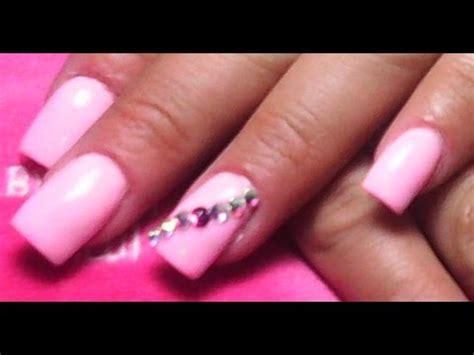 imagenes de uñas acrilicas rosa pastel u 241 as acr 237 licas rosa pastel u 241 as sencillas youtube