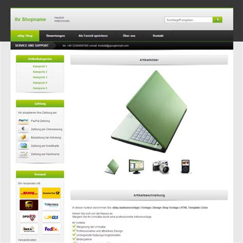 ebay seller templates free ebay template listing templates design shoptemplate