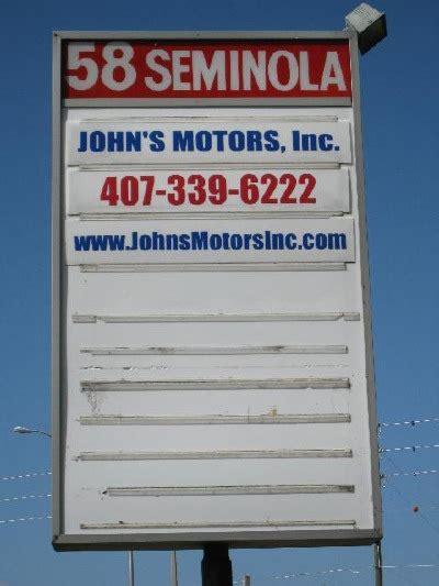 johns motors inc s motors inc