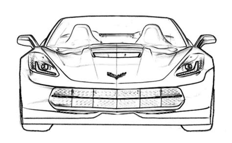 coloring pages of corvette cars corvette stringray c7 car coloring pages for kids free