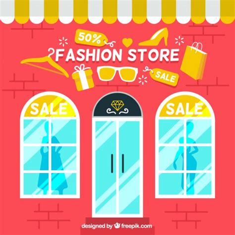 store layout vector fashion store sales background vector free download