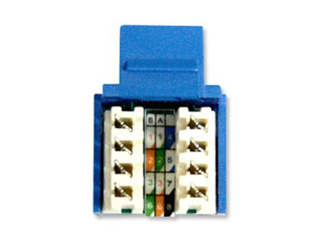 how to punch rj45 keystone jacks computer cable store
