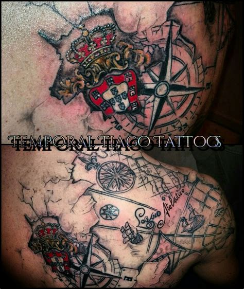 portuguese tattoos designs 3d portuguese nautic map totally customise by me