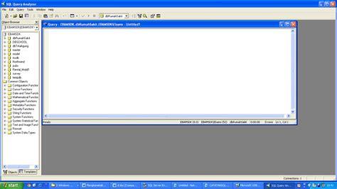 membuat query dengan sql berkreasi dengan sql query analyzer part 1 membuat