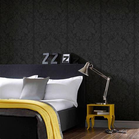 black removable wallpaper graham brown black gloriana removable wallpaper 33 331
