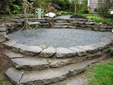 Rock Patio Design Rock Patios Here S An Intimate Gravel Patio Wit