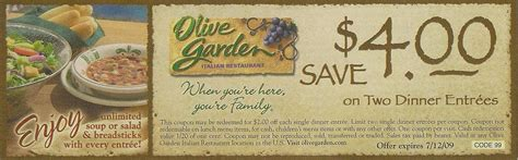 printable coupons olive garden restaurant olive garden coupon