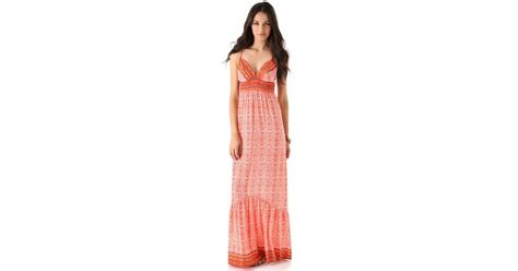 Twelfth St By Cynthia Vincent Snakeskin Shoes by Lyst Twelfth Cynthia Vincent Empire Maxi Dress In
