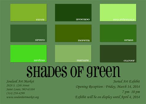 List Of Green Colors | shades of green packaging pinterest mud rooms