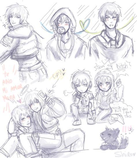 x doodle aoba x noiz doodle dramatical murder by kirairei on