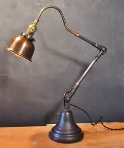 Industrial Desk Lamp by Vintage Industrial Style Desk Lamp W Copper Shade 183 Dw