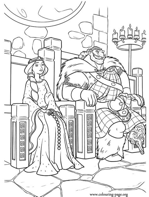 free coloring pages king and queen brave king fergus and queen elinor coloring page