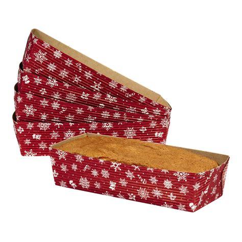 Online Home Decor Shops rectangular paper loaf baking pans set of 6 christmas