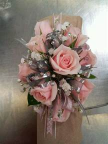 Flower Mylar Balloons - pastel pink lady wrist corsage flowers from the heart