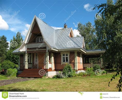 la casa russia russian style wooden house royalty free stock images
