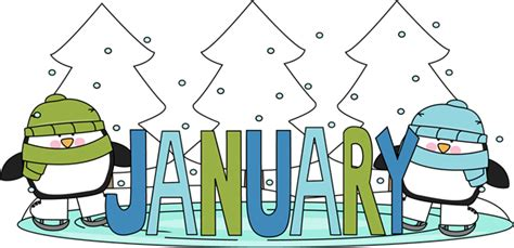 january clipart january winter clipart