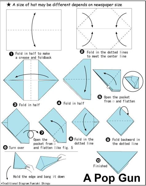 How To Make An Origami Weapon - origami pop gun cub scouts